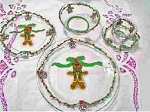 Hand painted Christmas Plates In Festive Designs