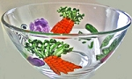 Hand painted Salad Bowl  Vegetable Design