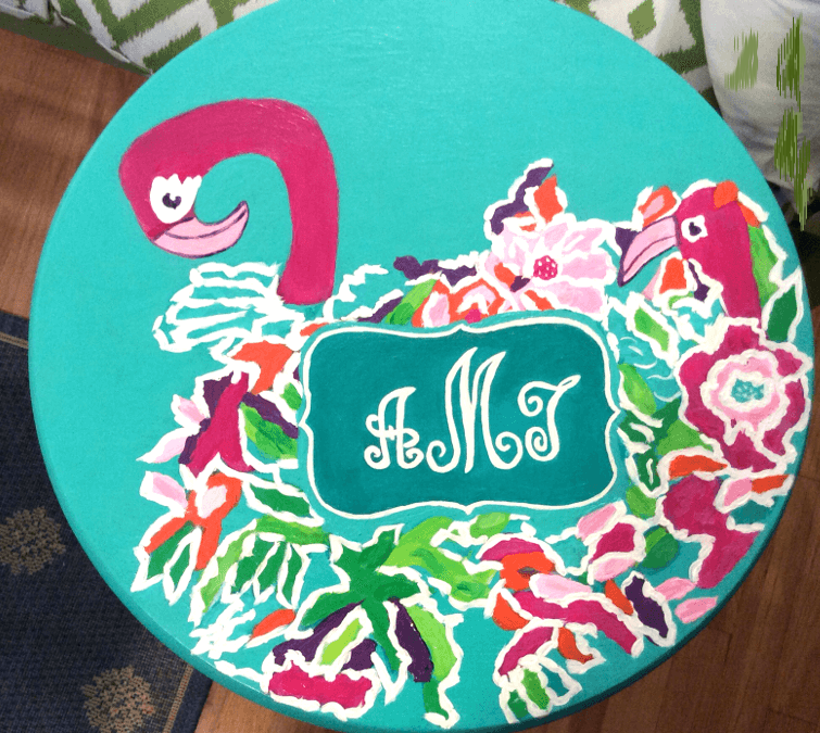 Kitchen Counter Stools In Lilly Pulitzer