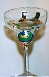 Margarita Glasses Hand painted, Mexican Margarita