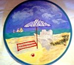 Bar Stools hand painted With Beach Scene