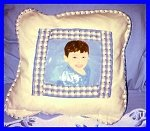 Hand painted Portraits On Pillows with Children's Faces