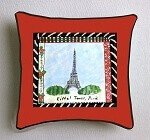 Hand made Pillows Hand painted Of The Eiffel Tower
