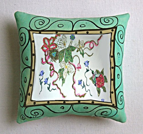 Painted Pillows For Your Sitting Area