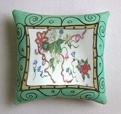 Painted Pillows To Adorn Your Sitting Area