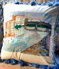 Pillows Hand painted Florence, Italy