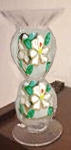 Hand painted Candlesticks In Magnolia Design