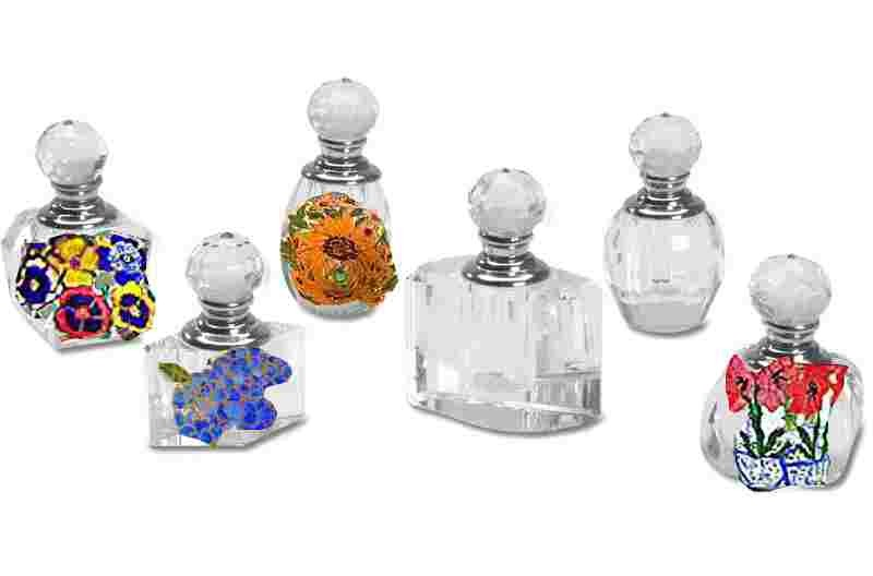 Clearly Susan's Hand painted Perfume Bottles