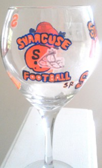 Syracuse University Football Glasses