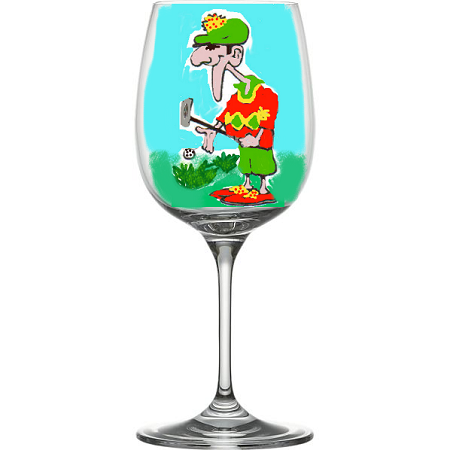 Golf  Wine Glasses - Golf Sports Glasses