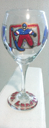 Personalized Beer Glasses , Hockey Gifts