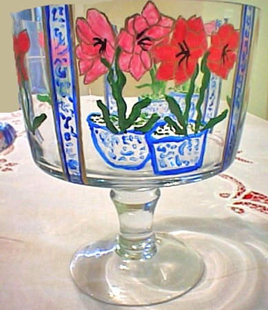 Trifle Bowl With Red Amaryllis