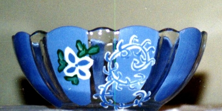 Glass Bowls In Spring Designs