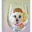 For The Dog Lover Hand painted Dog Gifts of Wine Glasses