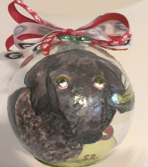 "Hand painted English Pointer ""bird dog"" Ornaments"