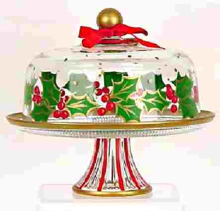 Cake Stand With Dome For Christmas