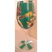 Custom painted Rooster Wine Glass Do You Like?