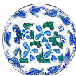 Hand painted dinnerware in blue and white savoy design