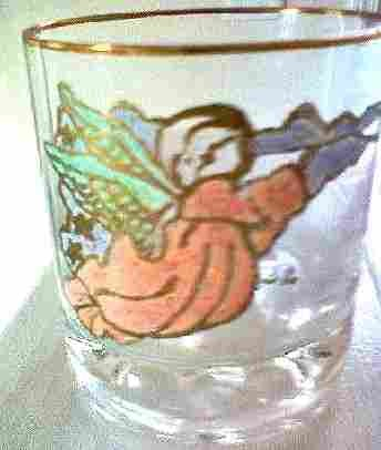 Hand painted Angel Glass