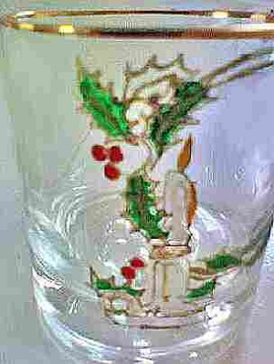 Christmas Candle Glass