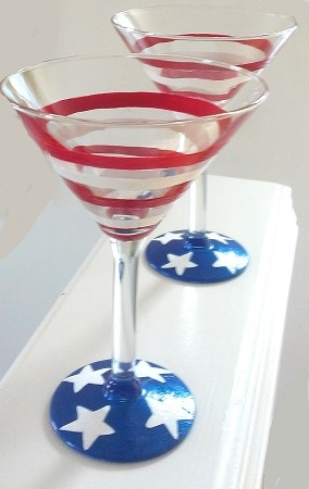 Patriotic Glasses-4th Of July Glasses