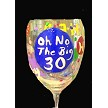 # 3........Hand painted Birthday Wine Glass