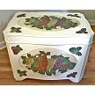 Hand painted Chest in Grape Design Mofif