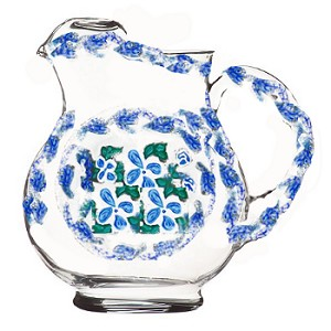Pitcher In Blue and White Flowers