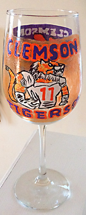 Clemson University Football  Glasses