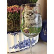 Painted Russian Grey Wine Glasses