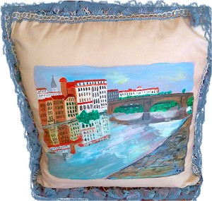 Hand painted Pillows, Hand made Pillows