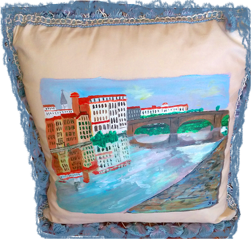 Pillow Of The Arno Bridge In Italy