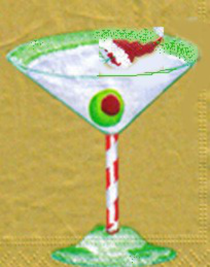Christmas Martini Glass