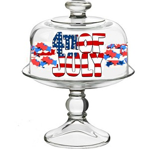 Patriotic 4th of July Cheese Dome | Clearly Susan