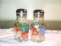 Salt and Pepper Shakers in Vegetable Design