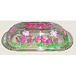 Pink Flowers Butter Dish