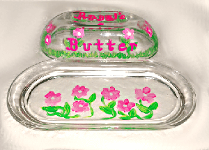 Butter Dishes Hand painted To Match Your China