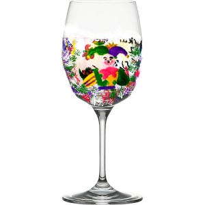 Mardi Gras Wine Glasses Features The Joker