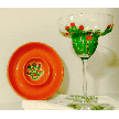 Hand painted Margarita Glasses With Cactus