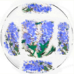 Purple Wisteria Hand painted Dinner Plate