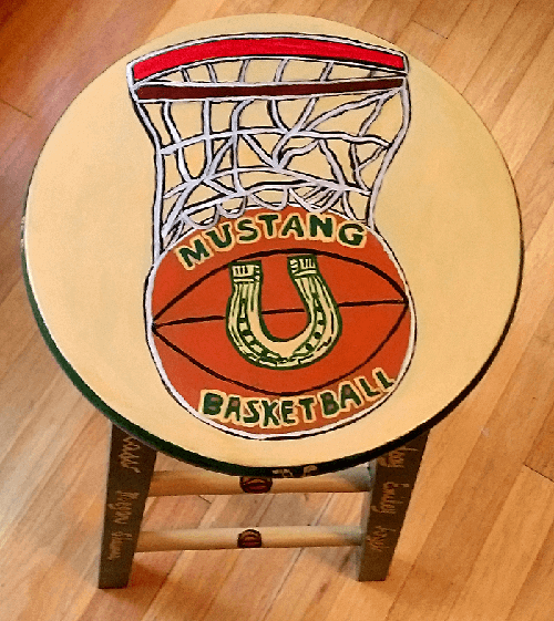 Hand painted Stools For Sale