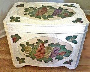 Hand painted Wooden Chests In Grape Design