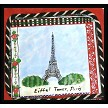Hand painted Pillow of the Eiffel Tower