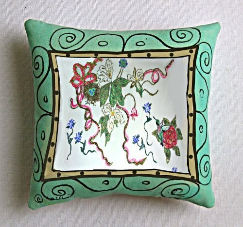 Painted Pillows Add Drama To Home Decor