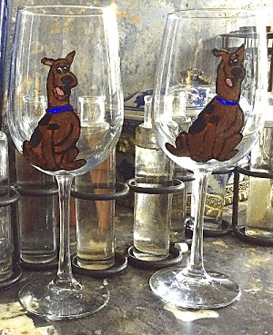 Scooby Doo Wine Glasses|Clearly Susan
