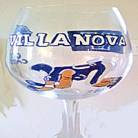Hand painted Villanlova University Sports Glass