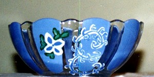 Hand painted Glass Bowls In Spring Designs