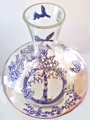 Crystal Wine Decanter Tree of Life Design